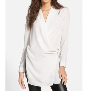 ASTR Wrap Tunic Blouse